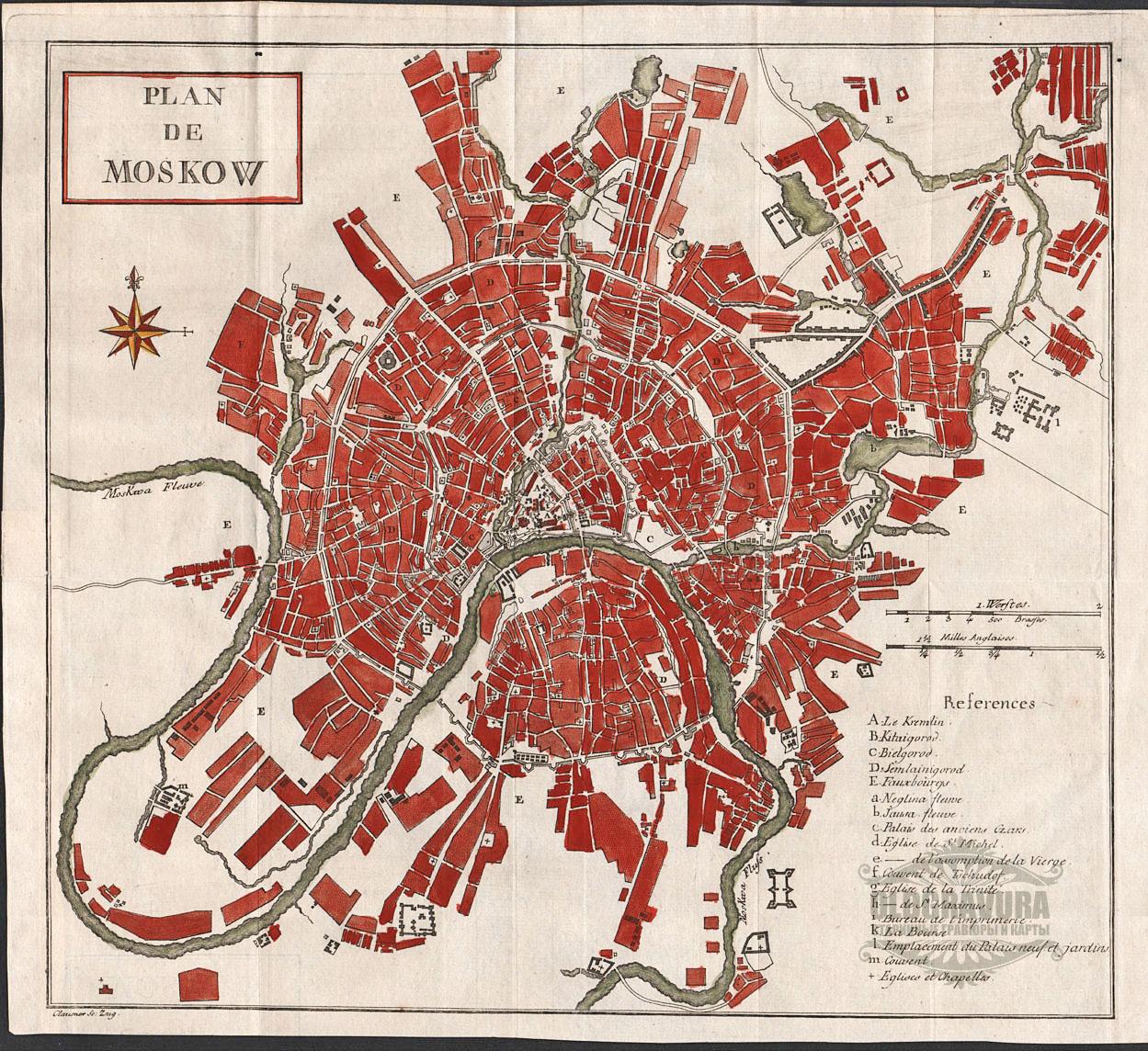 Картинка план москвы габаритным